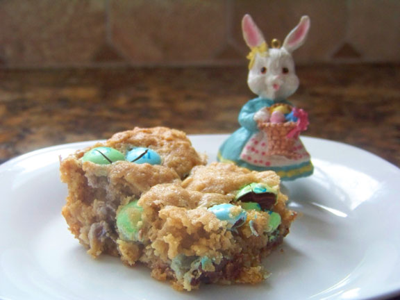 Oatmeal M&M Blondies (for, um, really early Easter?)