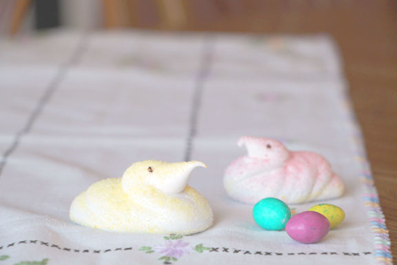(Partly) Organic Homemade Peeps (Really!)