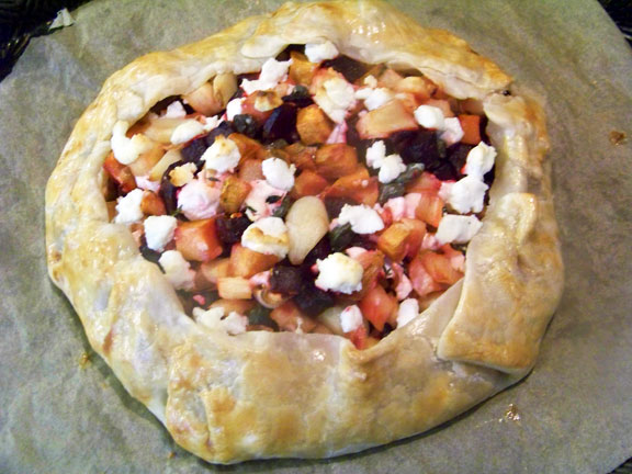 Goat Cheese and Roasted Vegetable Galette