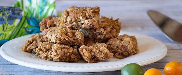 Melt and Stir Granola Bar Cookies