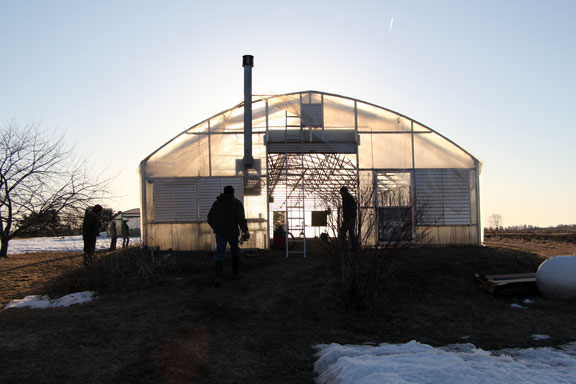 An Early Spring Greenhouse Raising