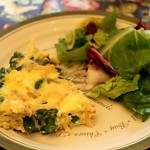 Asparagus Frittata with Salad