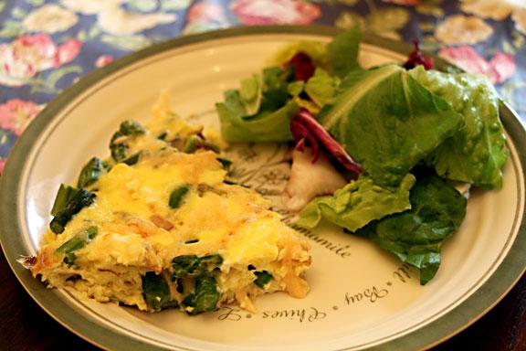 Asparagus Frittata with Salad