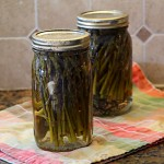 Pickled Asparagus for a Food Swap