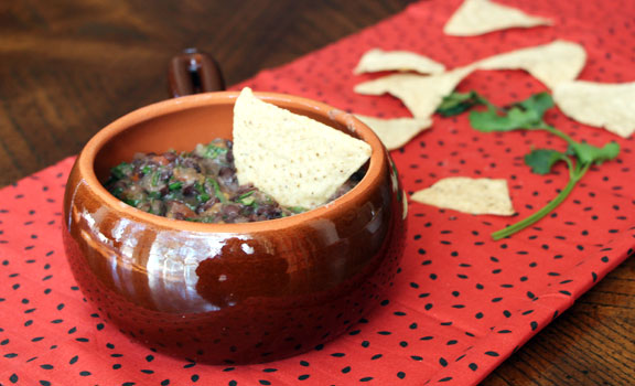 Creamy-Spicy Black Bean Dip (Four Ingredients!)