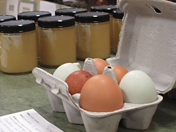 Honey and Eggs at a Food Swap