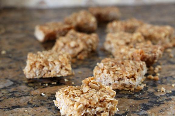 Granola Bar Cookies Out of Pan