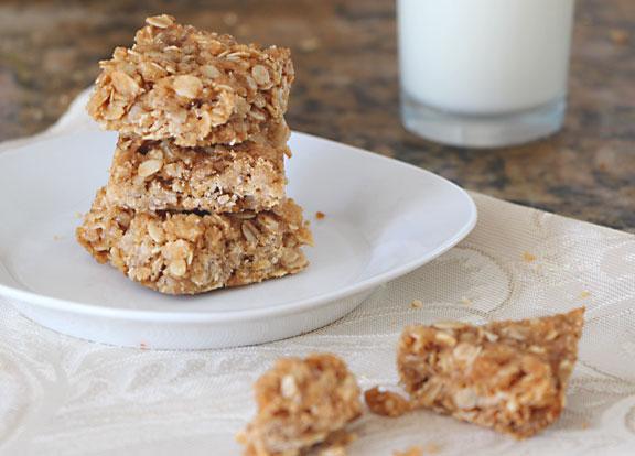 Granola Bar Cookies with Milk