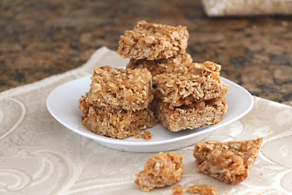 Melt and Stir Granola Bar Cookies