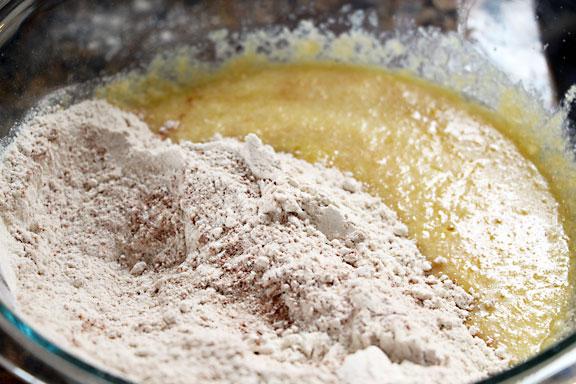 Combine Wet & Dry Ingredients