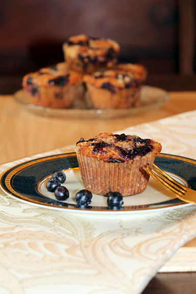Blueberry Lemon Sugar Muffins