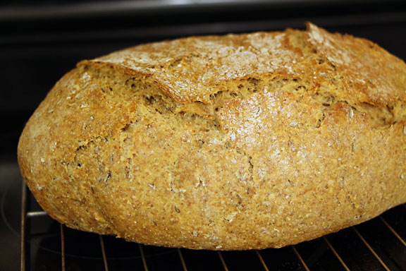 Rye Bread Cooling