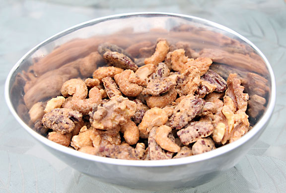Sugared Nuts in a Dish