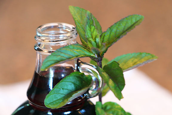 Mint and Blackberry Syrup