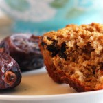 Carrot Oat Bran Muffins (with Dates & Walnuts)