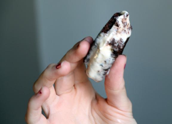 Eating Ice Cream Sandwich