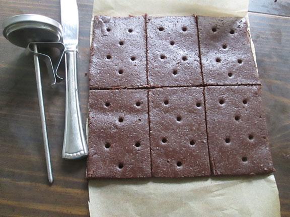 Score top dough layer