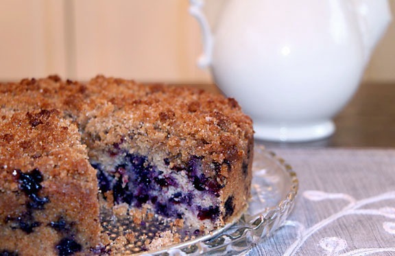 Blueberry Buckle, Served