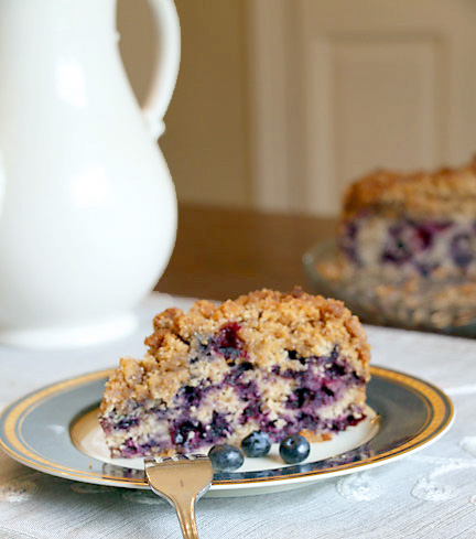 Blueberry Buckle and coffee