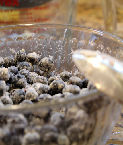 Berries tossed with flour