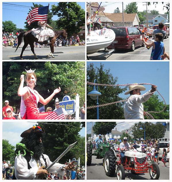 July 4th parade scenes