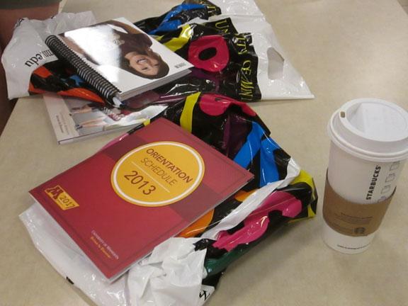 college orientation materials