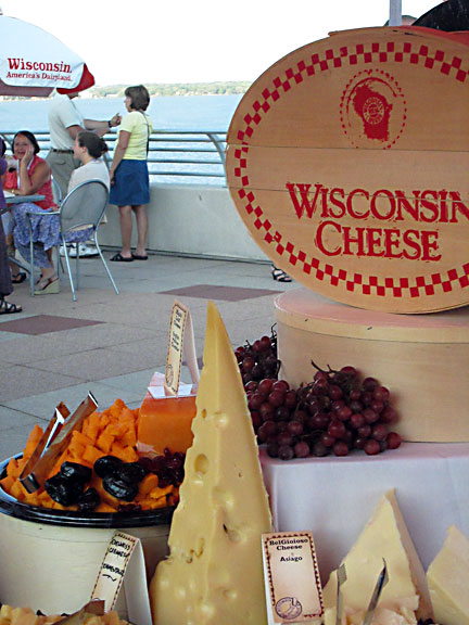 Eating Cheese on the Scenic Monona Terrace Rooftop