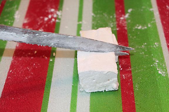 Cutting marshmallows