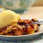 Peach and Brambleberry Cobbler