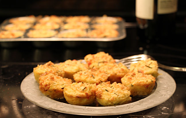 Crab cakes out of oven