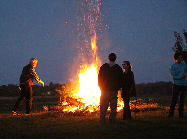 Feeding the bonfire