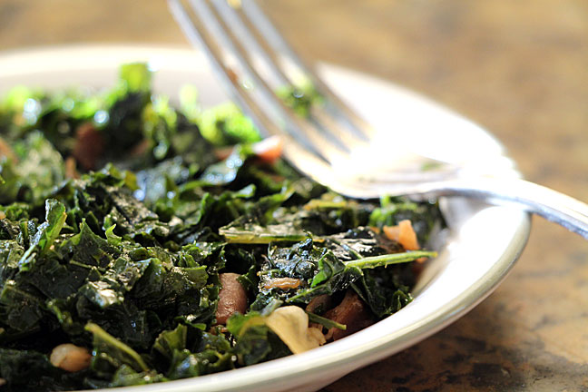 Kale (or Other Greens) with Prosciutto