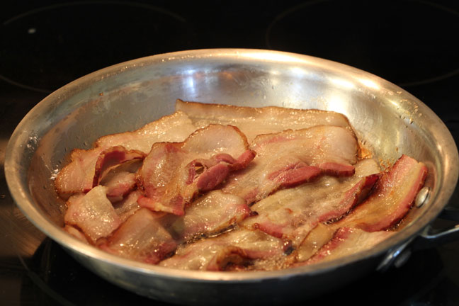 frying bacon