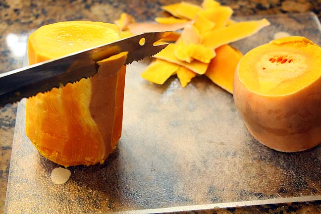Cutting Butternut Squash