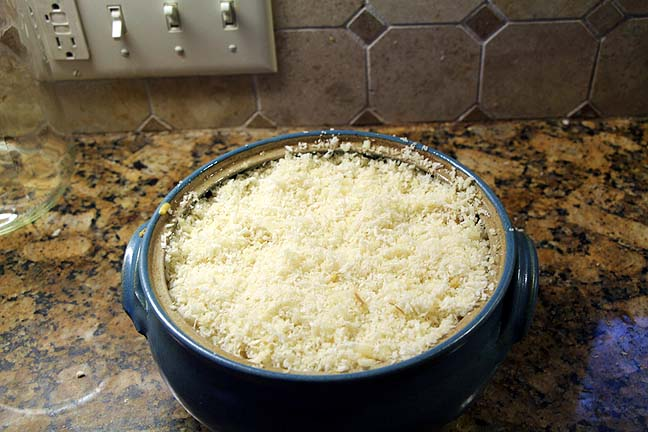 Top with breadcrumbs and cheese