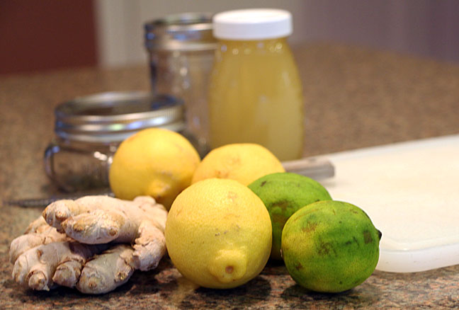 Lemon ginger tea ingredients