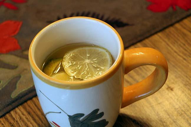 (Lime or) Lemon, Ginger Honey in a Jar