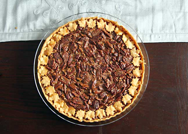 Pecan Tart from above