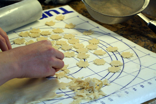 Cut Maple Leaf Pie Crust Decoration