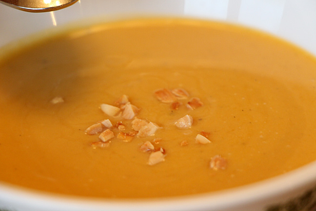 Coconut and Winter Squash Soup... up close