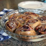 Cranberry Pecan Cinnamon Rolls in Pan