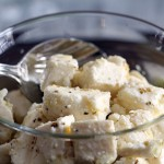 Marinated homemade feta cheese