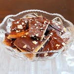 Homemade toffee in a bowl