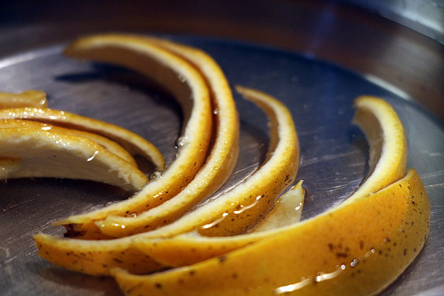 Boil orange peel