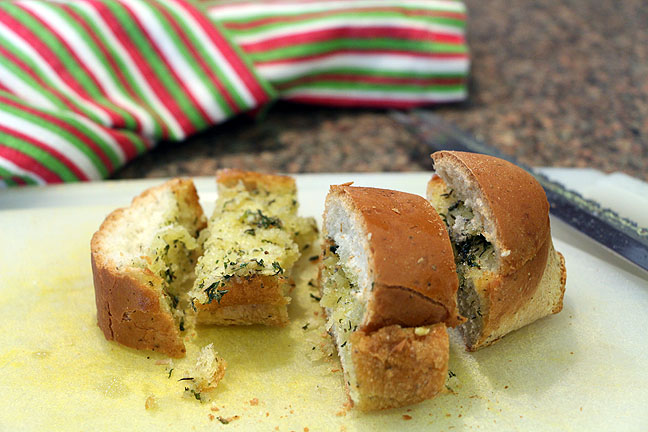 Olive oil garlic herb bread--done!