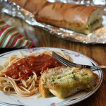 Olive Oil Garlic Herb Bread with Spagetti