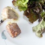 Steak Fondue with Mustard Caper Sauce