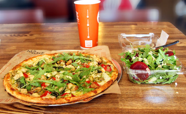 Blaze pizza meal