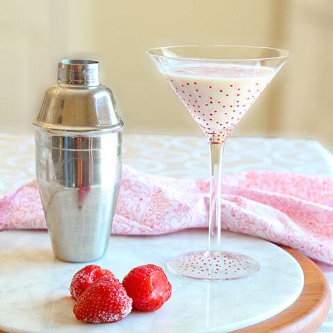 White Chocolate Strawberry Martini