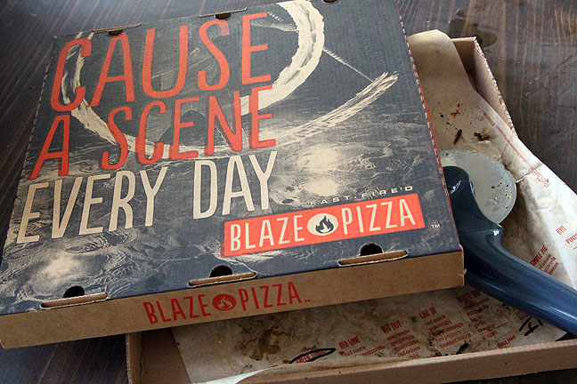 Blaze pizza box